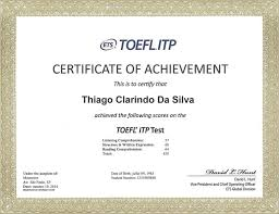 IELTS, TOEFL CERTIFICATES