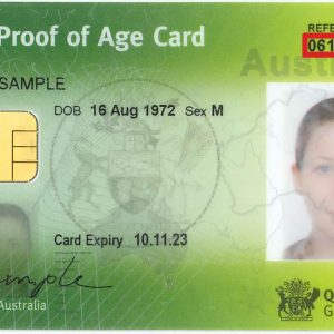Fake Australia ID card