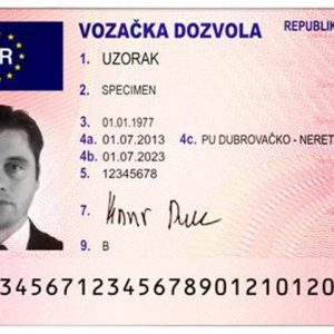 Croatia Driving License