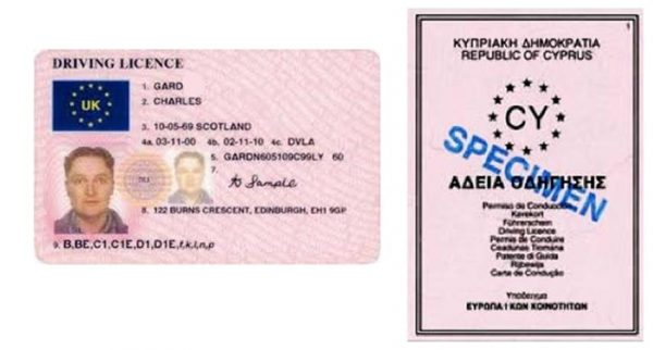 Cyprus Driving License