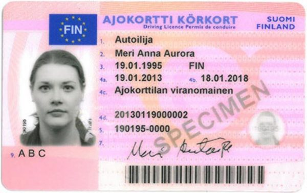 Finland Driving License