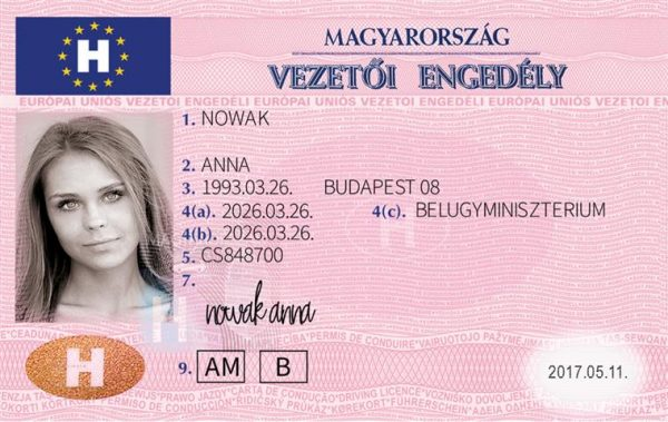 Hungary Driving License
